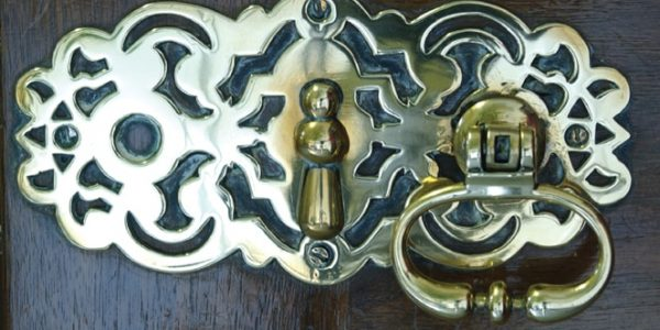 Brass door detail, Bradbourne House