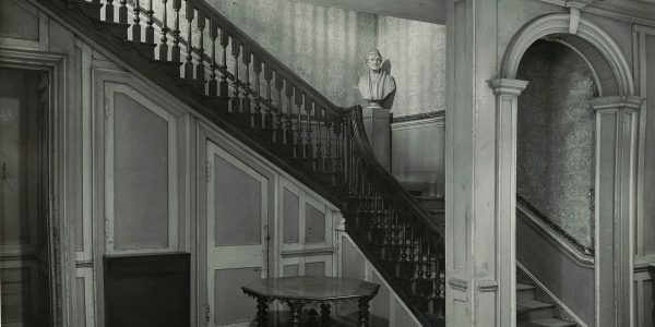 Walnut staircase, rear of house 1950s